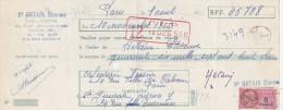 Lettre Change 18/1955 HETAIN Etienne Dorure Argenture Passage Ménilmontant PARIS Pour Rue Filles Du Calvaire EV - Cambiali