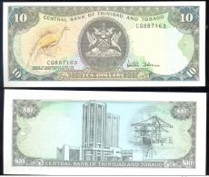 TRINIDAD AND TOBAGO * 10 DOLLAR * YEAR ND * P 38e * UNC BANKNOTE - Trinidad En Tobago