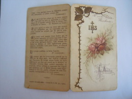 Image Pieuse Holy Card Santini Prière L'Amitié IHS Roses  Bouasse-Lebel 377 - Devotion Images