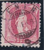 Heimat NE Fenin 1908-01-28 Voll-O Stehende Zu # 91c - 1882-1906 Armoiries, Helvetia Debout & UPU