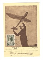 TP 458 Joséphine-Charlotte S/CP Salon&Congrès Internationaux De La Petite Aviation C.Bruxelles En 1938 PR2552 - Postmark Collection