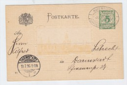 Bavaria ARCHITECTURE EXHIBITION EXPO CANCEL POSTAL CARD 1896 - Universal Expositions