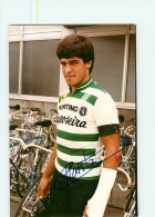 Carlos MARTA , Autographe Manuscrit, Dédicace. Lire Descriptif. 2 Scans. Cyclisme. Sporting Raposeira 1984 - Cycling