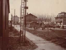 Photo Ancienne 1904 Gare Train De Sathonay - Places