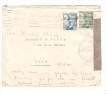 Spain Stamps Franco On Cover Censura Militar Barcelona To Gand Belgian Belgian Stamps Collector PR2557 - 1931-Aujourd'hui: II. République - ....Juan Carlos I