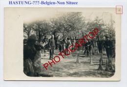 HASTUNG-!?-Belgien-NON SITUEE-Ecole D'agriculture-WEIDEN-SAULE-OSIER-Carte Photo Allemande-Guerre 14-18-1 WK-BELGIEN- - Belgique