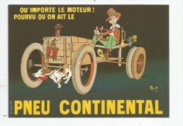 Cp , Collection LES ANCÊTRES DE L'AUTOMOBILE , Vierge  , PNEU CONTINENTAL - Cartes Postales