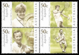 2003 - Australian LEGENDS Tennis Set 4 Stamps MNH - Mint Stamps