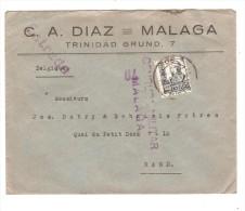 Spain Cover From Malaga Censura Militar Malaga 70 + Stamp Pro Malaga To Gand Belgium PR2558 - 1931-Today: 2nd Rep - ... Juan Carlos I