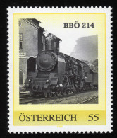 ÖSTERREICH 2007 ** Eisenbahn, Train BBÖ 214 - PM Personalized Stamp MNH - Private Stamps