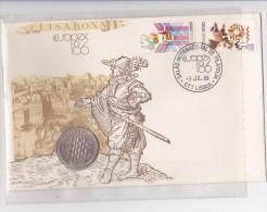 Portugual Adhésion à La CEE Avec Piéce De 25 Escudos - Postmark Collection