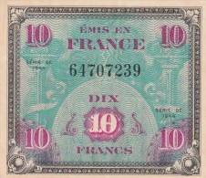 -  BILLETS - TRESOR - DRAPEAU FRANCE - 10 FRANCS - N° 64707239 - SERIE DE 1944 - 1944 Bandiera/Francia
