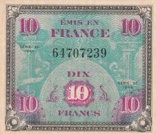 -  BILLETS - TRESOR - DRAPEAU FRANCE - 10 FRANCS - N° 64707239 - SERIE DE 1944 - Treasury