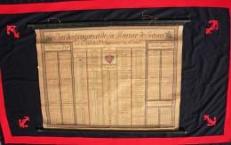 ETAT DES TROUPES ET DE LA MARINE DE FRANCE , ORDONNANCE JANVIER 1773- EXCEPTIONNELLE PLANCHE DETAILLEE  !!!! - Divise