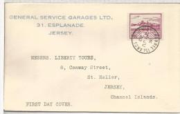 JERSEY OCUPACION ALEMANA 1943 FDC SPD - Jersey