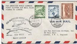 AUSTRIA 1946 FIRST FLIGHT PRIMER VUELO WIEN LONDON - Aéreo