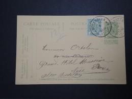 BELGIQUE - Perforé ADC Sur Timbre Armoirie Sur Entier Postal Commercial En 1910 - A Voir - Lot P14627 - Perfins