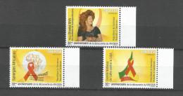 Cameroon Cameroun 20011 AIDS HIV SIDA Wife President Chantal Biya Foundation Yv. 928-930 Mint Set - Kameroen (1960-...)