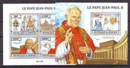 Burundi 2005 Y Personalities Pope John Paul II Block + Minisheet MNH