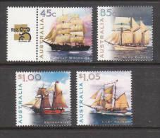 1999 - Australian Sailing SHIPS Set 4 Stamps MNH - 1990-99 Elizabeth II
