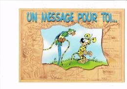 "Marsupilami "" Un Message Pour Toi ...  ""- MARSU JUNGLE - Dessin Batem N°CS316 - Oiseau Perroquet - Fumetti"
