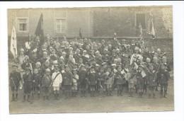 CPA Photo - Enfants Fêtant La Libération - Drapeau (lieu á Déterminer Mais Région Fraire - Laneffe - Morialmé) - Belgium
