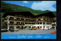 "P3828 Gasthof "" ADLER "" Albergo, Hotel - SAN GIOVANNI IN VALLE AURINA ( Bolzano ) ST. JOHANN IM AHRNTAL + AUTO FIAT ALFA - Italia"