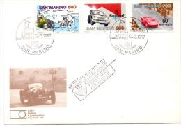 SAN MARINO FAIP FDC AUTO PECHINO PARIGI   01.16franc0049) - FDC