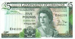 Gibraltar 5 Pound 1988 Pick 21b UNC - Gibraltar