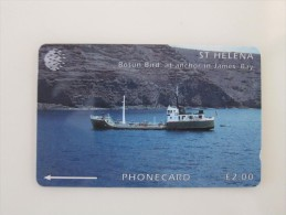 GPT Magnetic Phonecard, 5CSHD Bosun Bird At Anchor In James Bay,mint - St. Helena Island