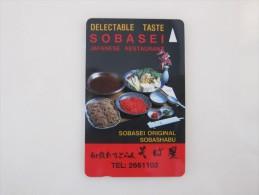 GPT Magnetic Phonecard, 1SSOA Japanese Restaurent,mint - Singapour