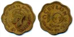 1944 Ceylon 10 Cent Coin - Colonies