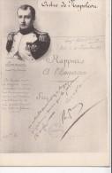 NAPOLEON/ Ordre De Napoléon Rapport à L'Empereur/ Réf:C4057 - Politieke En Militaire Mannen