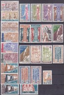 Colonie Francaise Serie Sauvegarde Des Monuments De Nubie 1964 Avion 25 Valeurs  Neuf** - France (ex-colonies & Protectorats)