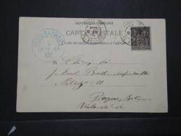 FRANCE - Obl. Paris 70 Pl. Possoz Sur Cp Pour Prague En 1900 - A Voir - Lot P14673 - Postmark Collection (Covers)