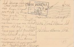 Cachet Censure  U.S. Army Sur Carte Postale - Scan Recto-verso