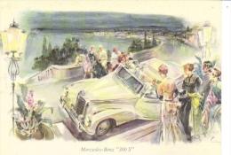 Mercedes-Benz 300S Cabriolet  -  Mercedes Advertising Postcard  - Artwork By Walter Gotschke - Voitures De Tourisme