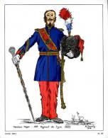 Tambour Major 43ème Rgt De Ligne 1855 - Uniformes