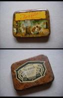 """Scatola/scatoletta In Latta Per Profilattici. """"IEXIDE"""" Water Cured.Original Liquid Latex. Prophylactic. Made In U.S.A. - 1914-18"""