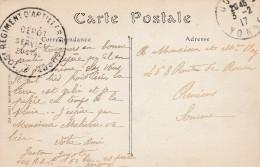 "Joigny  - Cachet  105° Reg Art "" Depot Postal "" - Scan Recto-verso"
