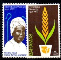 U135B - BAHAMAS 1975 , Yvert N. 366/367  ***  MNH WOMEN - Bahamas (1973-...)