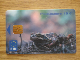 FINLAND USED CARDS 2003 TR 10000  FROGS