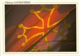 Marque-page °_ Editions Loubatières - Croix Occitane - V.uni 7,5 X 10,5 - Marque-Pages