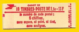 Carnet  De 10T  2059 C2a  Verso Chiffre 7 ** Complet TB Gomme  Tropicale - Carnets