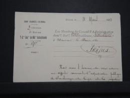 MILITARIA - Lettre à Entête D ' Armée Colonial ( Indochinois ) De Grasse En 1923 - A Voir - Lot N° P14680 - Documents
