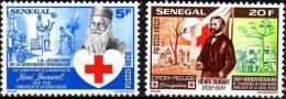 Sénégal N° 503 / 04  XX Sesquicentenaire De La Nais D´Henri Dunant, Fondateur Croix-Rouge La Paire  Sans Charnière, TB - Senegal (1960-...)