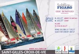 Marque-page °° La Solitaire Du Figaro 2012 - 85 St Gilles Croix De Vie - Programme Au Verso - 13x19 - Bookmarks