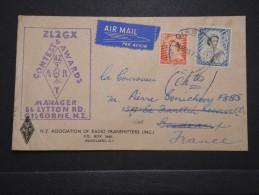 NOUVELLE ZELANDE - Enveloppe De Gisborne Pour La France En 1955 - A Voir - Lot P14690 - Briefe U. Dokumente
