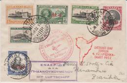 Greece FFC GZ Zeppelin 1932 Athens To Pernambuco Brazil - Storia Postale