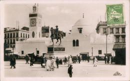 Carte Maximum, Alger Statue Et Mosquée Djama Djedid - Algiers